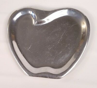 Nambé Apple Metal Party Serving Small Tray MT 0599 Silver Marilyn Davidson New