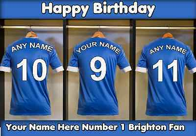 A5 Personalised Rochdale Football Greeting Birthday Card any name age value