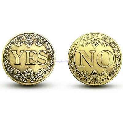Yes or No Lucky Decision Coin Bronze Commemorative Coin Retro Collection Gift B#