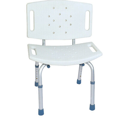 BodyMed Aluminum Shower Chair with Back, 300 lb Capacity