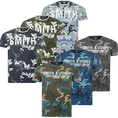 Mens Smith & Jones By Crosshatch Military Camouflage Camo T Shirt Army Tee Top
