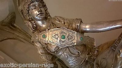 Antique Handmade Silver Belt Decorated With Open Works And  Stones