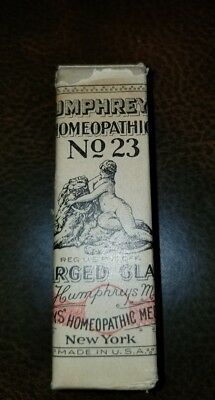 Antique Humphreys Homeopathic Medicine NOS #23 Enlarged Glands