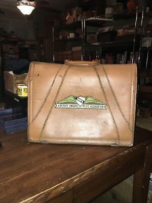 Rare Votnage 1940-50 Era Aircraft Owners & Pilots Association Pilots Bag AOPA