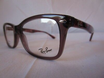 9d99a96d1 NEW GENUINE RAY Ban RX5228 2126 50 Dark Brown Light Pink Mens Womens ...