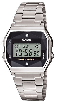 "Reloj Casio Retro  A-158Wead-1Ef ""Diamond"" Cristal Facetado. Distribuidor Casio"