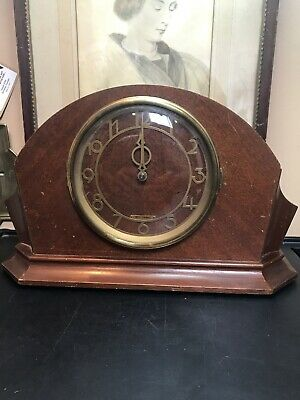 Vintage Electric Art Deco Mahogany Mantle Clock By Seth Thomas #6502. Consol 7E!