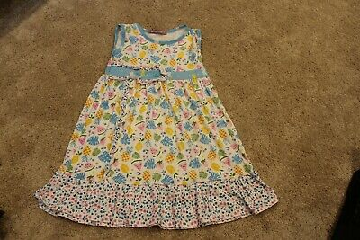 02bddbc23cd23 GIRLS SIZE 6 Jelly the Pug Dress Spring Summer Pineapple Turquoise ...