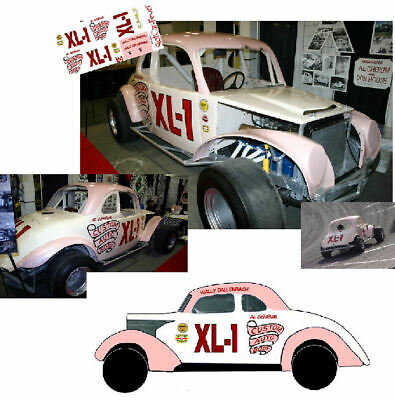 CD/_1081 #14 Russ Delp modified coupe  1:32 Scale DECALS