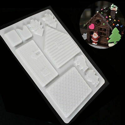 Cake Decorating  Gingerbread House Mould Christmas Chocolate Cutter clay plaster