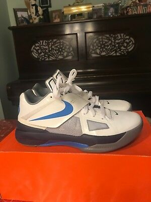 quality design 3026a 68d91 Nike Zoom KD IV  OKC Home 473679-100 White Photo Blue-