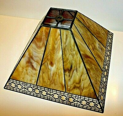 Beautiful Arts & Crafts Nouveau Deco Slag Glass Lampshade