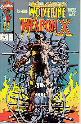 Marvel Comics Presents, #72, 1991, 1st Weapon-X, Daredevil, Shanna, Red Wolf