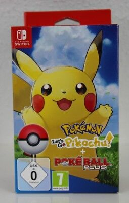 Pokémon: Let's Go Pikachu! + Pokéball Plus - Nintendo Switch NEU & OVP Pikachu