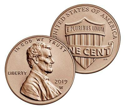 50 Coin PRESALE - 2019 W Reverse Proof Cent from Silver Proof Set