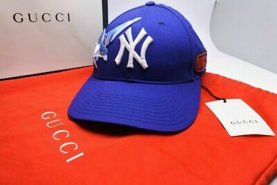 ffd5c017f9b3c GUCCI Cap Blue Size 55cm-59cm Made in Italy Limited in Tokyo Authentic 18AW