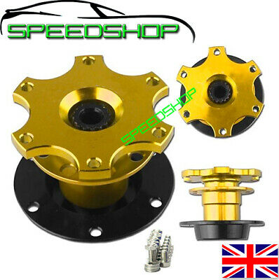 Quick Release Snap Off Steering Wheel Boss /Hub Race/Rally/Motorsport/Track GOLD