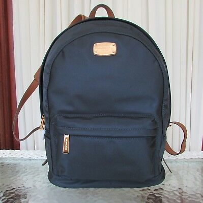 ec160a1e04e2 Michael Kors Blue Nylon Large Backpack Travel School Bag Jet Set Item Navy  NWT
