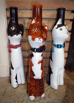 YOUR CAT - CUSTOM PAINTED Upcycled CAT Figurine Bottle Decor
