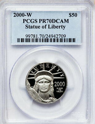2000-W PCGS PR70 1/2 oz Proof Platinum Eagle $50