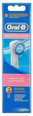 Braun Oral B Sensitive Clean Replacement Brush Heads, 2 Count