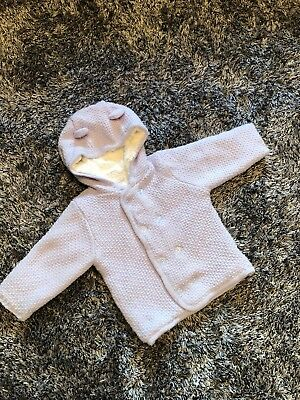 Worn Twice - Designer Absorba Baby Blue And White Cardigan - 12 Months