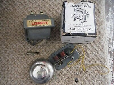 Vintage Liberty Bell Manufacturing Co. Doorbell Transformer 212-A, in Orig Box