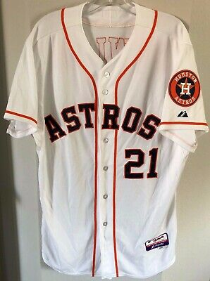 6d64ec6e Houston Astros -Dexter Fowler #21 Majestic White Home Cool Base Player  Jersey