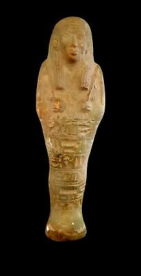 Shabti Rare Large Egyptian Ancient Faience Ushabti Hieroglyphic Egypt Royal fine