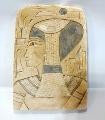 Rare Unique Ancient Egyptian Antique wall relief plaques Art Pharaoh Sculpture