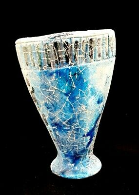 Very rare Vase Antique Porcelain masterpiece Blue White Egyptian art crafts Kohl