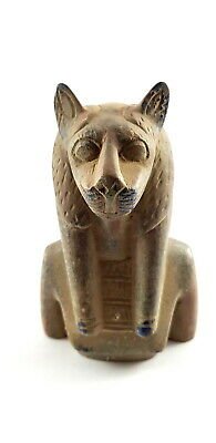 Sekhmet Ancient Egyptian Egypt Amulet Antique Statue Faience Rare glazed