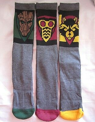 GUARDIANS OF THE GALAXY Marvel Men's Socks 3 Pair Athletic Crew Multi-Color NEW