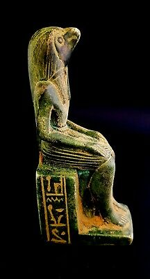 Rare nice Horus Egyptian Statue Falcon Figurine Ancient ky And Eye Ra Egypt art
