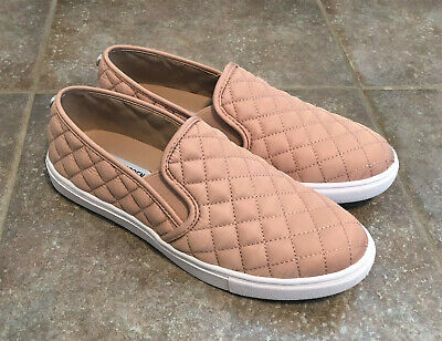 1a9f5143c NEW STEVE MADDEN Ecentrcq Blush Pink Quilted Slip On Sneaker Shoe Women's 9