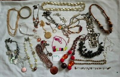 Joblot jewellery upcycling carboot modern vintage fashion necklaces bangles look