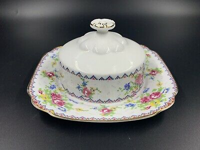 Royal Albert Petit Point Butter Dish with Lid Bone China England