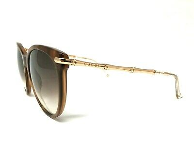 d6c2912c3f Gucci GG 3771S HQXJS Marble Brown Gold Bamboo Sunglasses Brown Gradient  56  18