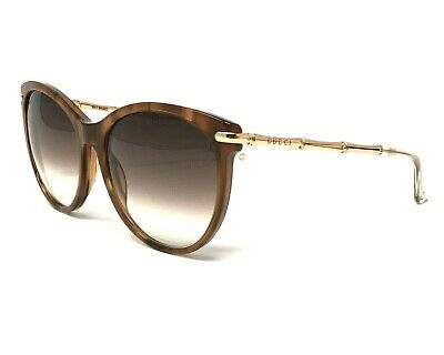 52bca0ea80 Gucci GG 3771S HQXJS Marble Brown Gold Bamboo Sunglasses Brown Gradient  56  18