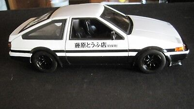 Glossy White 1986 Toyota Trueno AE86,,Diecast Metal Collection,,30840 1//24