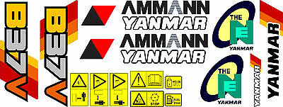 Yanmar B37v Digger Decal Set