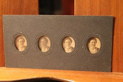 Antique Cabinet Card Photo ca. 1880's 4 mini portraits young lady Louisville KY