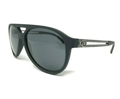43a62adaa52f8 Authentic VERSACE Mod. 4312 5141 87 Matte Black Polar Grey Lens Aviator 60mm