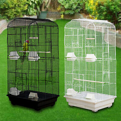 Large Metal Love Birds Cage Portable for Canary Cocktail Budgie Parakeet Parrot