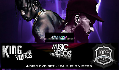 2019 Rap Hip Hop & RnB 124 Music Videos 4 DVDs, Drake Travis Scott Nipsey Hussle