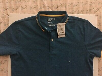 1e966f3d0 Giordano Men's Tapered Fit Short Sleeve Size Large Polo Shirt
