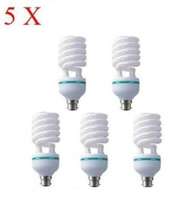 5 X B22 18W 6400K CFL LIGHTBULB DAYLIGHT BULB BAYONET ENERGY SAVER BULB new