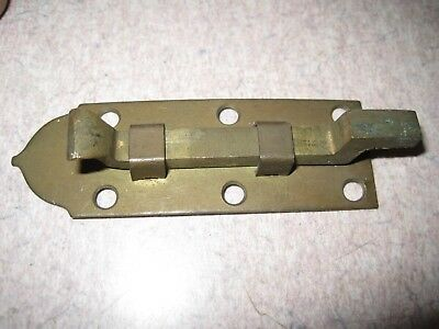 Antique Door Sliding Brass bar Lock Vintage Architectural HARDWARE latch stanley