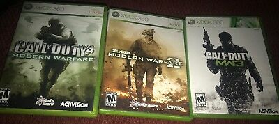 CALL OF DUTY Modern Warfare Trilogy Xbox 360 1 2 3 TESTED VERY GOOD