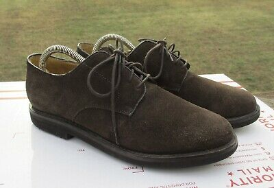 8b48283eed8 BROOKS BROTHERS GOODYEAR Welt Chocolate Suede Oxford Shoes 9 D Clean ...